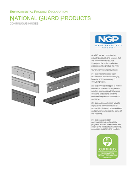 NGP EPD Continuous Hinge