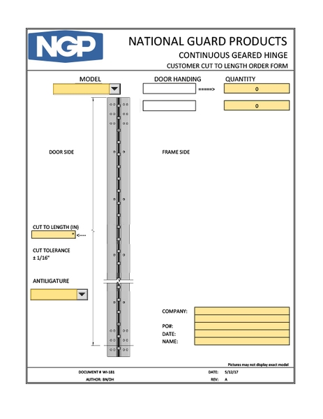 Order Forms  National Guard Products