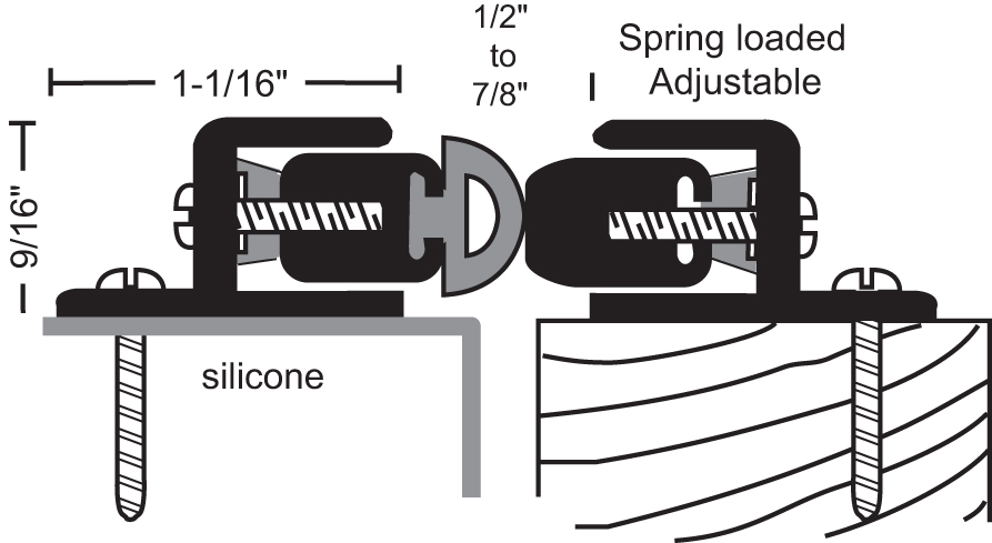 ... Anodized Aluminum Spring Loaded Silicone Astragal  sc 1 st  National Guard Products & Browse - National Guard Products