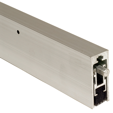 bottom door guard. anodized aluminum heavy duty surface, automatic door bottom with neoprene seal guard